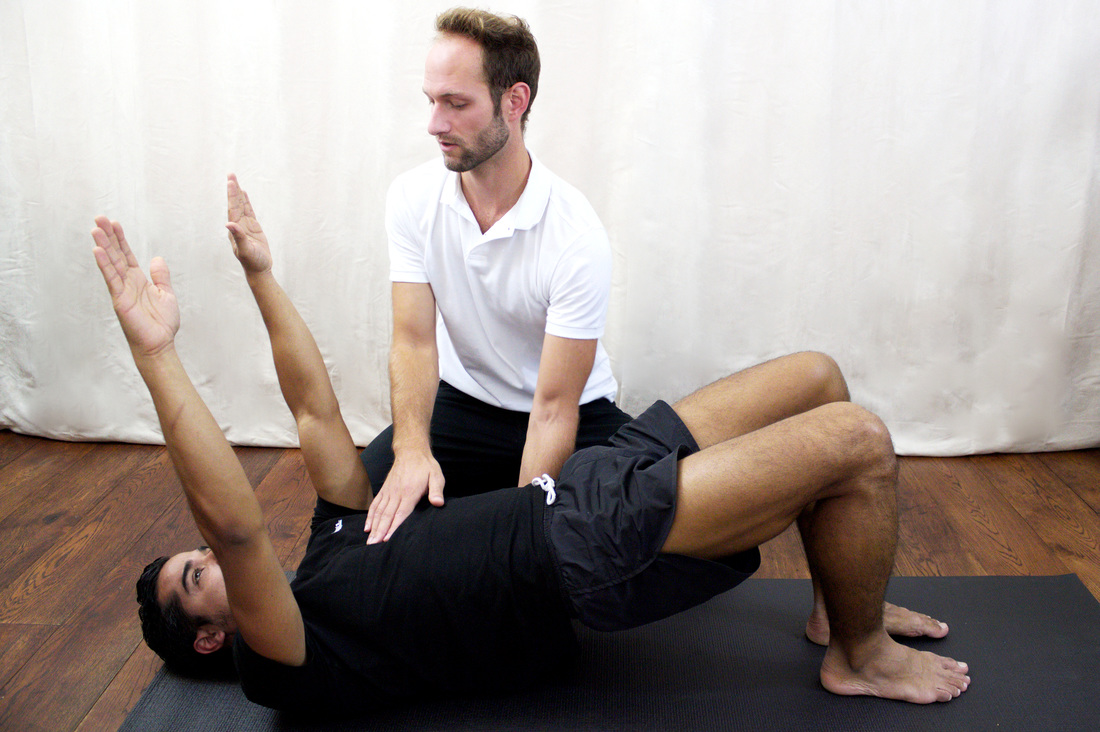 Dr Christoph Datler providing rehabilitation for back pain and private Pilates at Blackheath Clinic in London